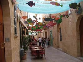 Alcudia: Decorated Street