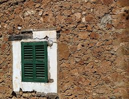 Deia: Limestone Wall And Window