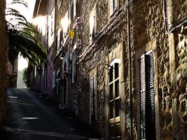 View of a street in Deia, Majorca